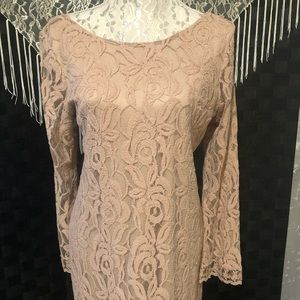 Xhiliration Lace Long Sleeve Dress